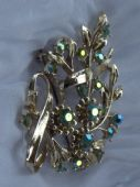 Floral Spray Brooch from1950's -   SOLD